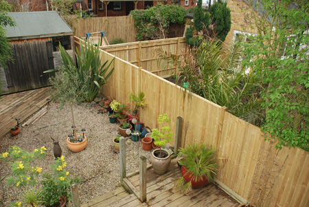 Wooden Post Closeboard fence